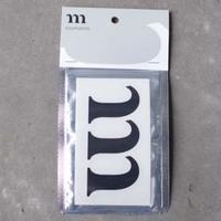 """""""m"""" STICKER NEW (ブラック)"""