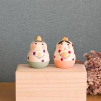 Ohinaマトリョーシカ Dot【紫×赤】  開くタイプ
