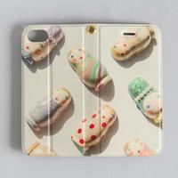 """iphone7/8兼用ケース 手帳型 """"ひなたぼっこ"""""""