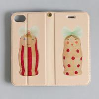 "iphone/7/8兼用ケース 手帳型  ""Tulle antiqua (pink)"""