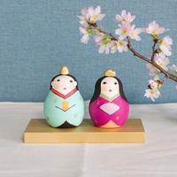 Ohinaマトリョーシカ KIMONO【ミント×ビビッドピンク】
