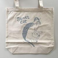 Sweet Cat★コットントートバッグ(グレー)