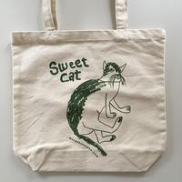 Sweet Cat★コットントートバッグ(グリーン)