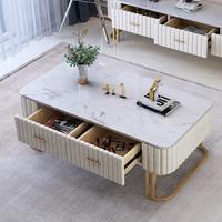 モダンベルベットコーヒーテーブル