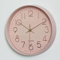 ゴールド 壁掛け時計(ピンク)