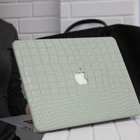 クロコダイルレザー Macbookケース(モスグリーン)