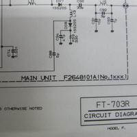 八重洲無線 FT-703R 回路図 ★保存・中古品★