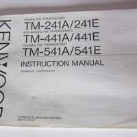 ケンウッド TM-241A/E・TM-441A/E・TM-541A/E 取扱説明書 英語版 ★中古品・レア★