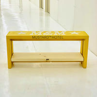 M&M -FURNITURE-   ペイント1段棚 ベンチ 900  PAINT-BENCH-900