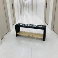 M&M -FURNITURE-   ペイント1段棚 ベンチ 900  PAINT-BENCH-900  LIMITED BLACK EDITION