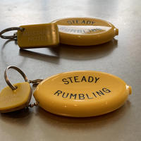 M&M-FURNITURE   MUSTARD HOTEL KEYRING-M  LIMITED [UpsideDown] Yellow EDITIONS with QUIKEY COIN CASE