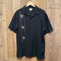 haggar Linen/Rayon Shirt BLACK