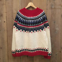 90's~ Eddie Bauer Fair Isle  Wool Sweater