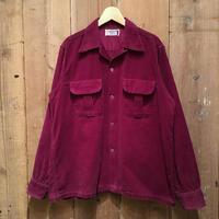 ~60's Pilgrim Open Collar Corduroy Shirt