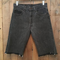 90's Levi's 501 Black Denim Cut Off Pants W 33