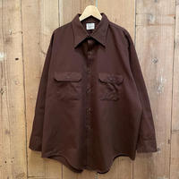 70's BIG MAC Work Shirt BROWN