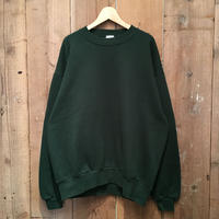 90's JERZEES Plain Sweatshirt D.GREEN