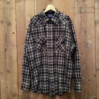 Pendleton High Grade Western Shirt GREY×BLACK