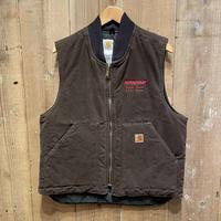 90's Carhartt Duck Arctic Quilt Lined Vest BROWN #1