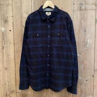 WOOLRICH Cotton Light Flannel Shirt BLACK×BLUE