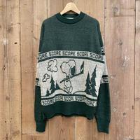 70's Arrow Snoopy Acrylic Knit Sweater