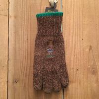 Polo Ralph Lauren Bear Gloves BROWN