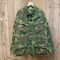 60's U.S.ARMY ERDL Camouflage Jungle Fatigue Jacket 4th