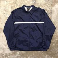 90's~ NIKE Nylon Coach Jacket NAVY×WHITE