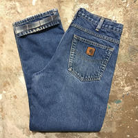 Carhartt Flannel Lined Denim Pants W 32