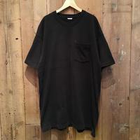 90's BVD Plain Pocket Tee BLACK XXL