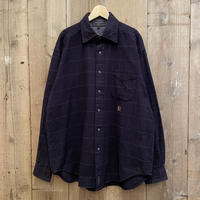 90's Tommy Hilfiger Cotton Light Flannel Shirt NAVY×GREEN