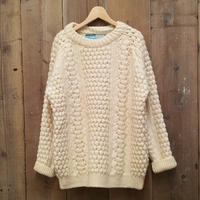 70's~ John Molloy Aran Knit Sweater