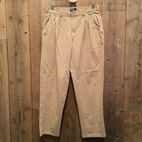 80's~ Polo Ralph Lauren Two Tuck Chino Pants KHAKI  W : 34