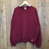 90's~ RUSSELL ATHLETIC Plain Sweatshirt BURGUNDY