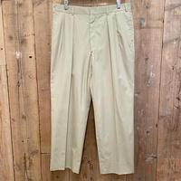 70's~ BROOKS BROTHERS Two Tuck Cotton Slacks