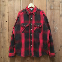~80's FIVE BROTHER Heavy Flannel Shirt RED