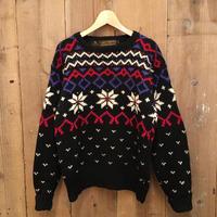 80's~ Eddie Bauer Fair Isle Wool Sweater