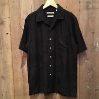 Batik Bay Silk Aloha Shirt BLACK