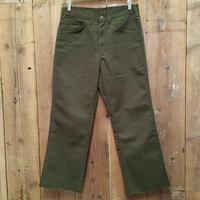 80's OSH KOSH 5-pocket Flare Pants D.GREEN  W : 32