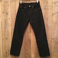 90's Levi's 501 Black Cotton Pants W 31