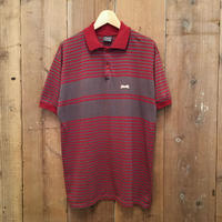 80's~ Le TIGRE Striped Polo Shirt