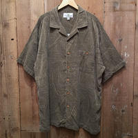 Island Shores Pigment Dyed Silk Aloha Shirts BROWN