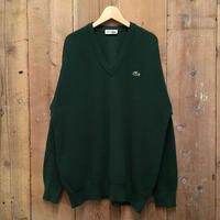 80's LACOSTE V-Neck Wool Sweater