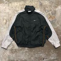 90's NIKE Nylon Jacket D.GREEN×L.GREY