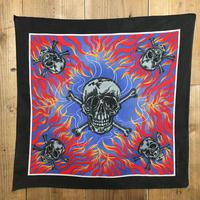 ~90's Skull & Fire  Bandana  #112