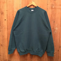 90's FRUIT OF THE LOOM Sweatshirt  BLUE GREEN