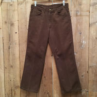 80's OSH KOSH 5-pocket Flare Pants BROWN  W : 33