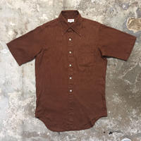 70's ENRO Permanent Press Shirt BROWN