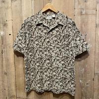 L.L.Bean Cotton Leaf Patterned Shirt