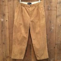 90's Polo Ralph Lauren Two TuckCorduroy  Pants  KHAKI   W:33
